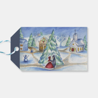 Classic Victorian Christmas Village Gift Tags