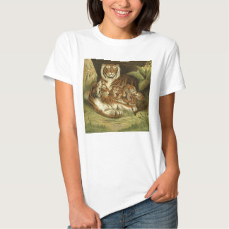 Classic Victorian Etching - Tigers T Shirt