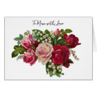 Classic Victorian Roses Lily of the Valley Romance Card