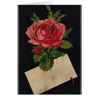 Classic Victorian Tea Rose Card