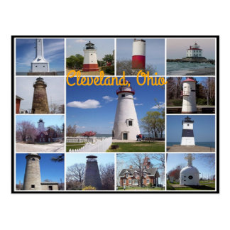 Classic views of the Lighthouses on Lake Erie Postcard