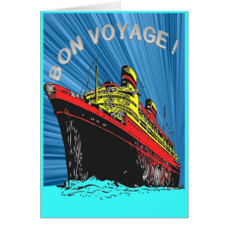 Classic Vinatge Retro Bon Voyage Greeting Card