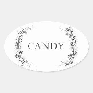 Classic Vine Design Candy Jar Labels Stickers