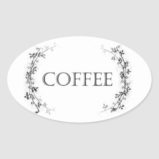 Classic Vine Design Coffee Jar Labels Stickers