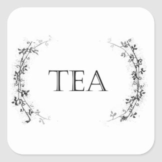 Classic Vine Design Tea Container Labels Stickers