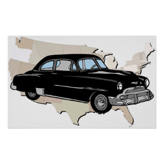 Classic Vintage 1950s Chevy Poster