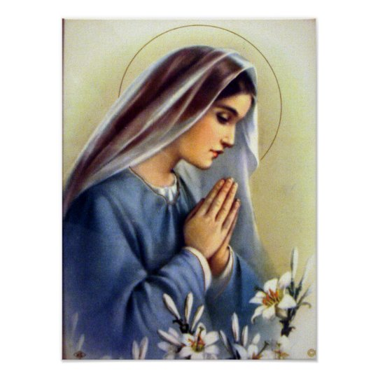 Classic Vintage Blessed Virgin Mary Mother of God