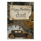 Classic Vintage Car Happy Birthday Dad Card