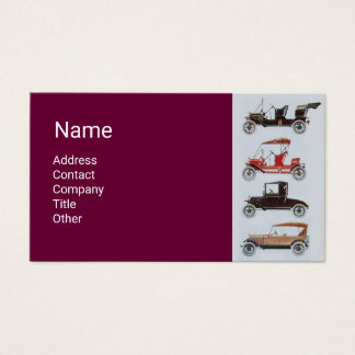 CLASSIC,VINTAGE CARS Auto Repair,Automotive Purple Business Card