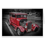 Classic Vintage Custom Classic Red Hot Rod HDR Card