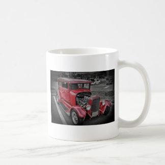 Classic Vintage Custom Classic Red Hot Rod HDR Mugs