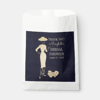 Classic Vintage Fashion Bridal Shower Favor Bags