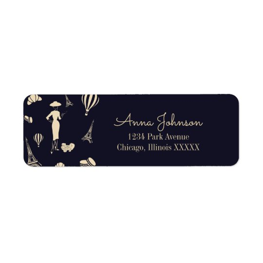 Classic Vintage Fashion Return Address Label