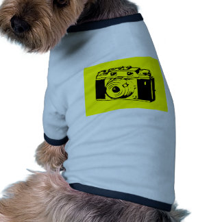 Classic Vintage Film Camera Upon Yellow Backround Doggie Shirt