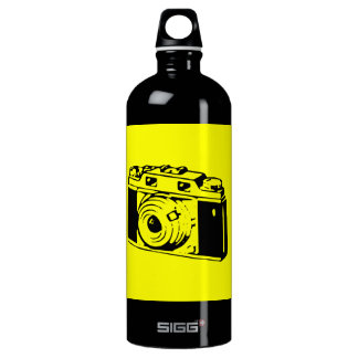 Classic/Vintage Film Camera Upon Yellow Backround SIGG Traveller 1.0L Water Bottle