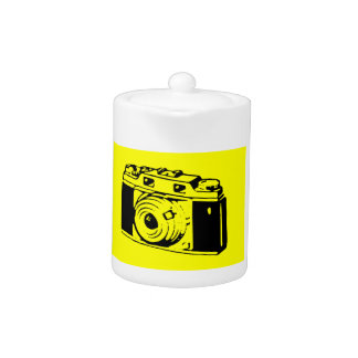 Classic Vintage Film Camera Upon Yellow Backround