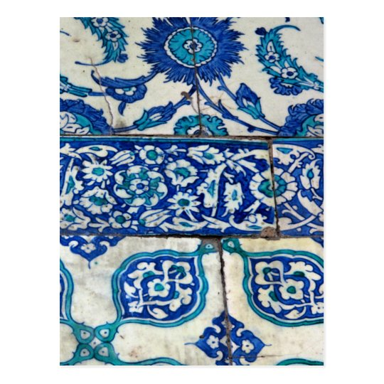 Classic Vintage iznik blue and white tile patterns