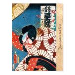 Classic vintage japanese kabuki samurai Utagawa
