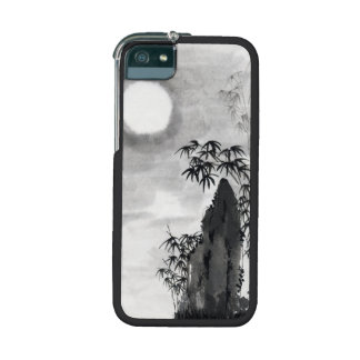 Classic vintage japanese night moon scenery sumi-e case for iPhone 5