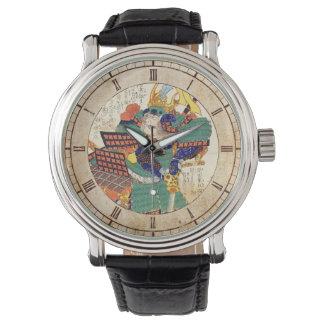Classic Vintage Japanese Samurai Warrior General Wrist Watches