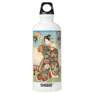 Classic vintage japanese ukiyo-e geisha Utagawa SIGG Traveller 0.6L Water Bottle