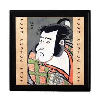 Classic vintage japanese ukiyo-e samurai tattoo large square gift box