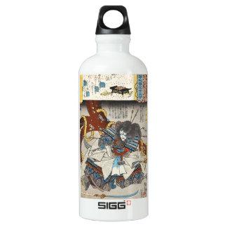 Classic vintage japanese ukiyo-e samurai Utagawa SIGG Traveller 0.6L Water Bottle