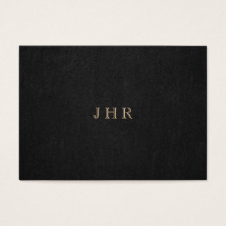 Classic Vintage Monogram Dark Brown Professional Business Card