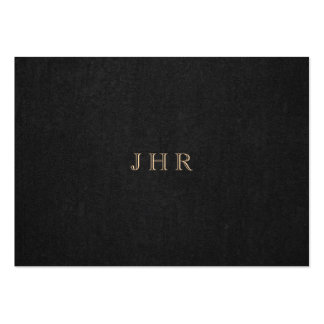 Classic Vintage Monogram Dark Brown Professional Pack Of Chubby Business Cards