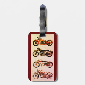 CLASSIC VINTAGE MOTORCYCLES LUGGAGE TAG