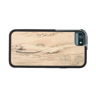 Classic vintage oriental  waterscape scenery boat iPhone 5/5S cover