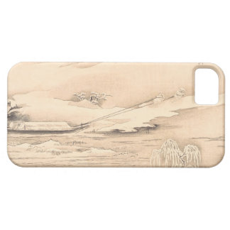 Classic vintage oriental  waterscape scenery boat iPhone 5 case