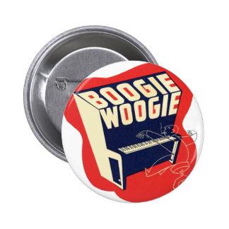 Classic Vintage Retro Boogie Woogie Jazz 6 Cm Round Badge