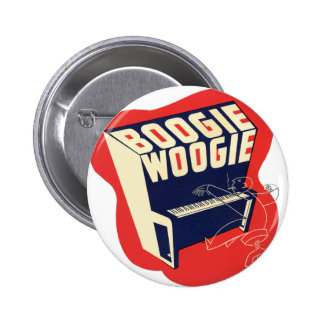 Classic Vintage Retro Boogie Woogie Jazz Pinback Buttons