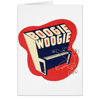 Classic Vintage Retro Boogie Woogie Jazz Greeting Card
