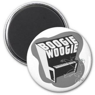 Classic Vintage Retro Boogie Woogie Jazz Magnet