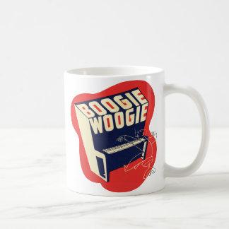 Classic Vintage Retro Boogie Woogie Jazz Basic White Mug