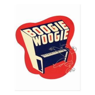 Classic Vintage Retro Boogie Woogie Jazz Postcard