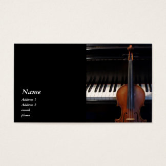 Classic Violin / Viola and Piano Business Card