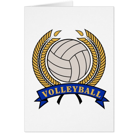 Classic Volleyball design notecards - blank Card
