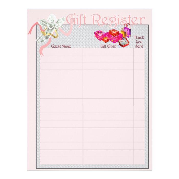 Classic Wedding Memories Gift Register Pages 21.5 Cm X 28 Cm Flyer