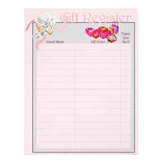 Classic Wedding Memories Gift Register Pages 21.5 Cm X 28 Cm Flyer