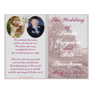 Classic Wedding Memories Program 21.5 Cm X 28 Cm Flyer
