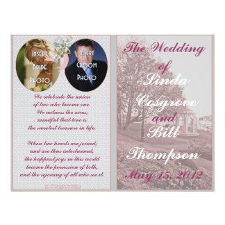 Classic Wedding Memories Program 21.5 Cm X 28 Cm Flyer