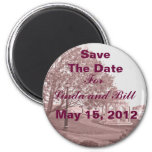Classic Wedding Memories Save The Date Magnet