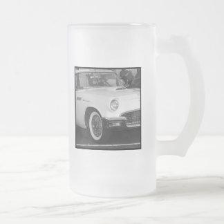 Classic white car mug