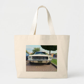 Classic White Ford Mustang Bags