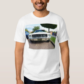 Classic White Ford Mustang Tee Shirt