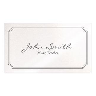 Classic White Frame Music Teacher Business Card