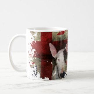 Classic White mug English Bull Terrier Flag Design
